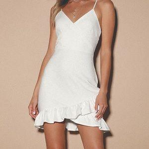 Lulu's white sealed with a kiss dress